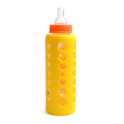 Icicle-Yellow Silicone Milk Bottle Sleeve 100% Food Grade Silicone BSL-Y