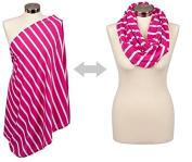 Itzy Ritzy Nursing Happens Infinity Breastfeeding Scarf, Pink Peony Stripe