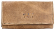 Light Brown Natural Durable Genuine Leather Wallet Wild Tiger