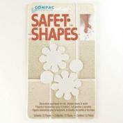 (White Daisy) Safe-t-shapes Safety Applique Anti-slip Bath Tub Shower Sticker