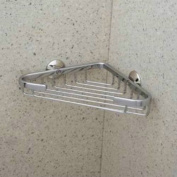 Rohl BSK17APC 20cm Wide by 3.3cm Deep by 13cm From Corner to Front Edge Wall Mounted Small Corner Basket, Polished Chrome