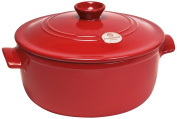 Emile Henry Flame Round Stewpot Dutch Oven, 4l, Burgundy