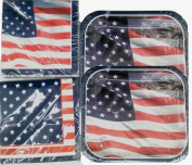 American Flag Napkins and Lunch Plates
