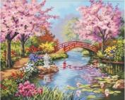 Game / Play Dimensions Needlecrafts Paintworks Paint By Number, Japanese Garden, counted, name, kits, broderie Toy / Child / Kid