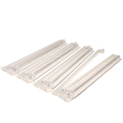 American Mahjong All-In-One Tile Rack & Pusher Arm - Set of 4 - Clear
