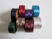 Nymo Nylon Seed Bead Thread Size 00 (8 Bobins 220 Yards Each) 0.006 Inch 0.15mm, Mixed Colours
