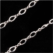 Sterling Silver Figure Eight Chain 2.4mm Bulk By The Foot