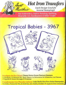 Tropical Babies Aunt Martha's Hot Iron Embroidery Transfer