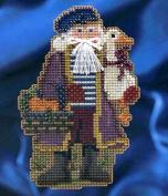 Mill Hill Celebration Santas Christmas Ornament Counted Cross Stitch Kit w/ Glass Beads Joyeux Noel MH204302