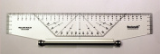 Metric Professional Parallel Rolling Drawing Drafting Ruler 350mm