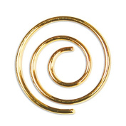 LCI Spiral Paper Clips Shiny Gold