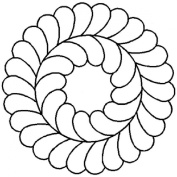 13cm Feather Circle Quilting Stencil by QCI - 57