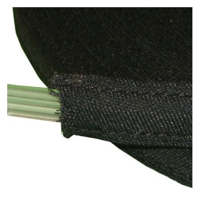 25 yds Cotton Covered Poly Polyester Boning 0.6cm - item4ever Brand (Black)