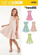 New Look Patterns UN6360A Girls' Sized for Tweens Dress, A