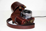 PU Leather Camera Case Protecting Pouch for SONY Alpha NEX 5, NEX-5T, NEX-5TL, NEX-5C, NEX-5N, NEX-5R Digital Camera