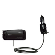 Intelligent Dual Purpose DC Vehicle and AC Home Wall Charger suitable for the Sony HDR-CX405 / HDR-CX440 - Two critical functions, one unique charger - Uses Gomadic Brand TipExchange Technology