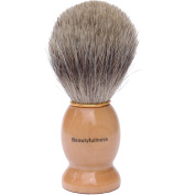 Beautyfullness Pure Badger Hair Shaving Brush With High Quality Wooden Handle Shaving Brushes are Great For Travelling Wooden