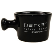 Parker Safety Razor Deluxe Black Stoneware Apothecary Style Shave Mug - Handmade in the USA