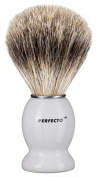 Perfecto 100% Pure Badger Shaving Brush-White Handle
