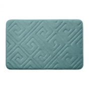 Bounce Comfort Caicos Extra Thick Premium Memory Foam Bath Mat with BounceComfort Technology, 43cm x 60cm Marine Blue