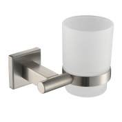 Angle Simple GA8205 Wall-mounted Toothbrush Holder, Brushed Steel