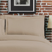 Lamont Home Diamante Sham, Standard, Taupe