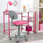 Study Zone II Desk & Chair - Pink