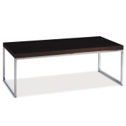 AVE SIX Wall Street Coffee Table, Chrome and Espresso
