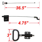 Diy-furniture Parts Sofa D-pull Handle D-ring Parachute Style Replacement Recliner Release Handle Long Cable and Spring S End Total Cable Length 100cm Exposed Cable Length