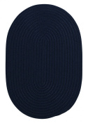Boca Raton Polypropylene Braided Rug, 1.5m by 2.4m, Navy