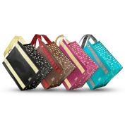 Shimmer - Graphic Print Grommet Reinforced Reusable Grocery Tote Bags - Set of 4