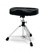 DW Drum Workshop Heavy Duty Throne with Motorcycle Seat Top