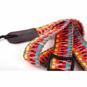 MUSIC FIRST® Durable Rainbow Adjustable 100% Cotton Ukulele Straps Uku Instrument Straps