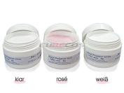 Luxury Acrylic Monomers Powder 30g Rosè + 30g White + 30g Clear = 90g