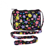 Childrens hand bag, over the shoulder flowery purse