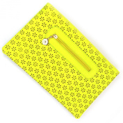 Large Summer Yellow Cut-out Daisy Flower Leather Envelope Clutch Bag and Purse