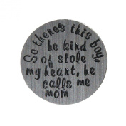 So there's this boy he stole my heart ... - 22mm Locket plate fits Living memory and Origami Owl style lockets