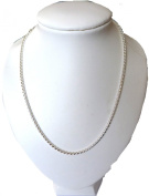 SMART AND ELEGANT SILVER EP 46cm ROPE NECKLACE IN GIFT BOX
