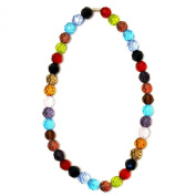 Joe Cool facet bead multi-coloured Necklace bead strand made from crystal glass