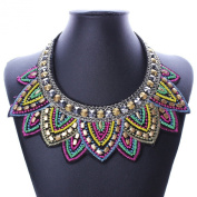National Style Women Multicolor Bib Chain Statement Casual Necklace Choker