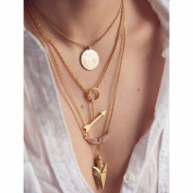 Multi-layer Gold Colour Pendant Necklace