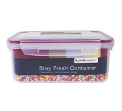 2 x 1.1L Clip & Lock Plastic Food Kitchen Storage Containers Set
