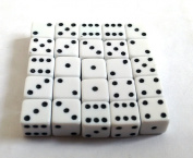 White 7mm D6 Opaque x25 Dice