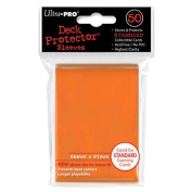 Trading Card Sleeves - 50 Ultra Pro Orange Deck Protectors Pokemon/MTG Sized. 66mm x 91mm.