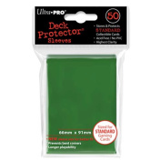Trading Card Sleeves - 50 Ultra Pro Green Deck Protectors Pokemon/MTG Sized. 66mm x 91mm.