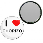 I Love Chorizo - 55mm Round Compact Mirror