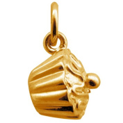 Lily Charmed-Sterling Silver Gold Vermeil Cupcake Charm Polished Finish