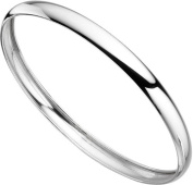 Elements Sterling Silver Ladies Plain Silver Bangle