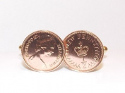 40 year Ruby wedding anniversary for a 40th wedding anniversary in 1975 half pence cufflinks