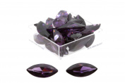 Birth Stone Jewels 15x7mm Purple Amethyst Marquise Cubic Zirconia Gem Stones Pack Of 2